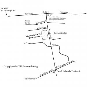 Karte TU Braunschweig